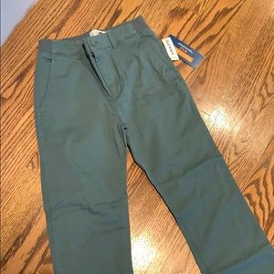 Old Navy slim tapers boys pants size XL 14-16 grn